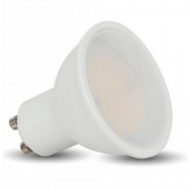V-TAC LED Spotlight - 3W GU10 White Plastic 3000K 110