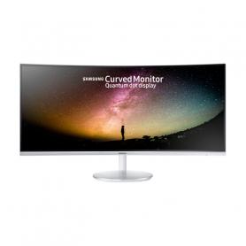 SAMSUNG C34F791 MONITOR 34 LCD LED CURVO 3440x1440, 4MS, 1 DP, 2 HDMI, ARGENTO E BIANCO