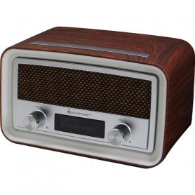 SOUNDMASTER UR190DPR RADIO DAB  DA TAVOLO VINTAGE MARRONE