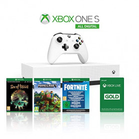 MICROSOFT XBOX ONE S 1TB All Digital Refresh include Minecraft - Fortnite -Sea of Thieves