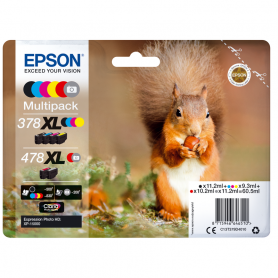 Epson C13T379D4020 MULTIPACK CARTUCCE 478XL BK C M Y R GR per XP-15000  SCOIATTOLO