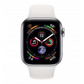 APPLE WATCH MTX02TY/A SERIE 4 CELL 44MM ACCIAIO - CINTURINO SPORT BIANCO