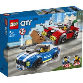LEGO CITY POLICE 60242 ARRESTO SU STRADA DELLA POLIZIA