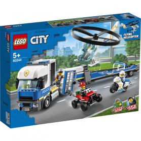 LEGO CITY POLICE 60244 TRASPORTATORE DI ELICOTTERI DELLA POLIZIA