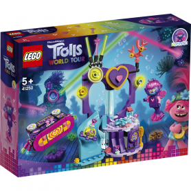 LEGO TROLLS 41250 FESTA TECHNO ALLA BARRIERA CORALLINA
