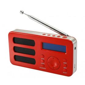 RLINE SOUNDAB METAL RED RADIO DIGITALE DAB  E FM CON BATTERIA RICARICABILE