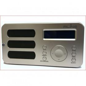 RLINE SOUNDAB METAL SILVER RADIO DIGITALE DAB  E FM CON BATTERIA RICARICABILE