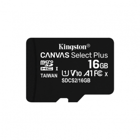 KINGSTON MICROSDHC 16GB SELECTPLUS UHS-I   ADATT. CL10 100mb/s LET  SDCS2/16GB
