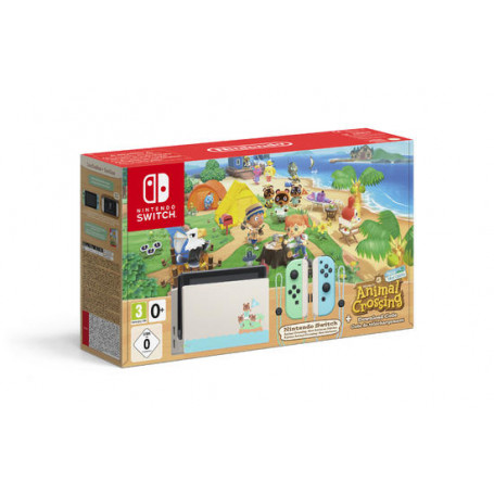 NINTENDO SWITCH CONSOLE + ANIMAL CROSSING LIMITED EDITION