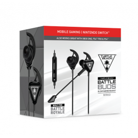 TURTLE BEACH Battle Buds Black  AURICOLARI GAMING CON MICROFONO