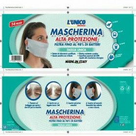 L'UNICO MASK SOFT MASCHERINA MADE IN ITALY CONF. 14PZ.