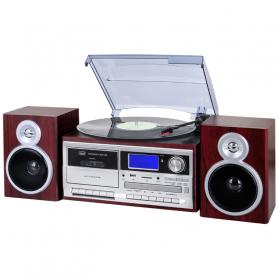 TREVI TT1070E LE STEREO MICRO GIRADISCHI,FM,CD,CASS,MP3,USB LEGNO