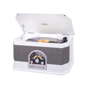 TREVI TT1040BTWH GIRADISCHI RETRO  FM BT WHITE