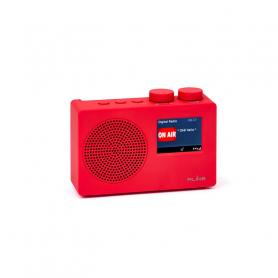 RLINE DABONERED RADIO DAB ONE LCD 2,4  RED