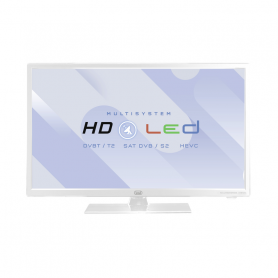 TREVI LTV2402WHI TVC LED 24 HD T2 MAIN10 SAT HOTEL MODE WHITE