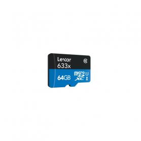 LEXAR 932832 CARD MICRO SD 64GB CLASSE 10 633X 932832   ADATTA