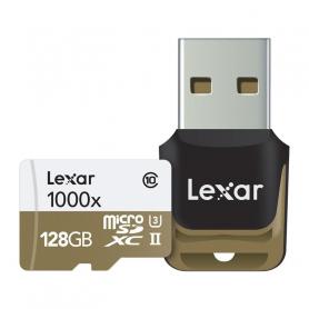 LEXAR 932842 CARD MICRO SD 128GB UHS II 1000X 932842   ADATT