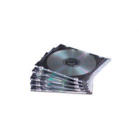 FELLOWES 9833801 CASE CD SLIM TRASPARENTE 10 PEZZI