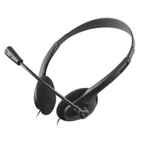 TRUST 21867 ACTION CHAT HEADSET CUFFIA   MICROFONO  PRIMO  JACK 3.5MM 4PIN   ADAT.Y 2JACK