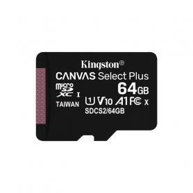 KINGSTON MICROSDHC 64GB SELECTPLUS UHS-I   ADATT. CL10 100mb/s LET  SDCS2/64GB