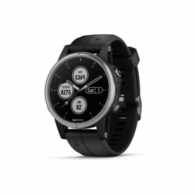 GARMIN FENIX 5S PLUS SILVER BLACK 010-01987-21