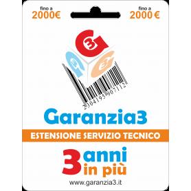 Garanzia3 Cover 12 Mesi Massimale 2000  G3CPD2000