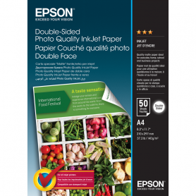 EPSON C13S400059 CARTA A4 PHOTO DOUBLE SIDE 140GR/M2 LUCIDA 50 FOG