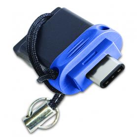 VERBATIM 49966 PENDRIVE STORE   N   GO DUAL USB3.0/USB-C 32GB NANO, CON LACCETTO