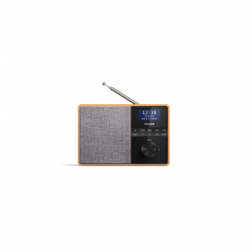 PHILIPS TAR5505 RADIO DAB PORTATILE LEGNO LCD 3