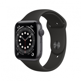 APPLE WATCH SERIES 6 GPS, 44MM SPACE GRAY  BLACK M00H3TY/A