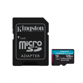 KINGSTON SDCG3/128GB CANVAS GO  PLUS U3 MICROSD 128GB   ADATT.SD 170MBS/90MBS