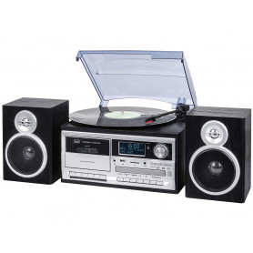 TREVI TT1072 BLAC STEREO MICRO DAB,GIRADISCHI,CD,CASS,MP3,USB BLACK