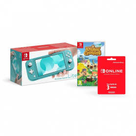Nintendo Switch Lite Turquoise   Animal Crossing New Horizons   NSO 3 months  LIMITED
