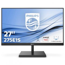 Philips 275E1S Monitor 27  2560X1440 IPS-4MS-HDMI-VGA-DP