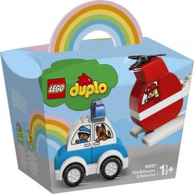 LEGO DUPLO MY FIRST 10957 ELICOTTERO ANTINCENDIO E AUTO DELLA POLIZIA