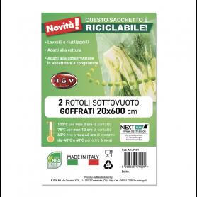 RGV 7101 ROTOLI SOTTOVUOTO GOFFRATI 20X6MT RICICLABILI 2ROTOLI
