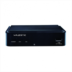 NEWMAJESTIC DEC665BK DECODER DIG TERR T2 SCART HDMI HEVC265 USB MAIN10
