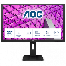 AOC 22P1D MONITOR 21.5  LCD 1920X1080 16:9 2MS , REGOL.ALT. ALTOPARL.INT., DVI HDMI VGA