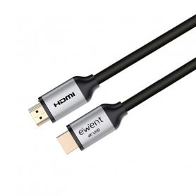 EWENT EC1348 CAVO HDMI 2.0 PREMIUM CON ETH. , 4K 60HZ, CONETT DORATI, 5MT