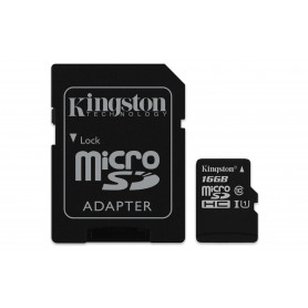 KINGSTON MICROSDHC16GB SELECT UHS-I ADATT. CL10 80mb/s LET 10mb/s SCR  SDCS/16GB