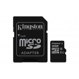 KINGSTON MICROSDHC16GB SELECT UHS-I ADATT. CL10 80mb/s LET 10mb/s SCR  SDCS/16GB