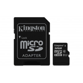 KINGSTON MICROSDHC32GB SELECT UHS-I ADATT. CL10 80mb/s LET 10mb/s SCR  SDCS/32GB
