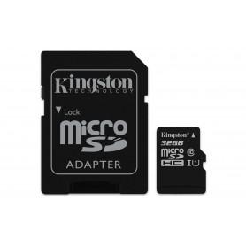 KINGSTON MICROSDHC32GB SELECT UHS-I ADATT. CL10 80mb/s LET 10mb/s SCR  SDCS/32GB