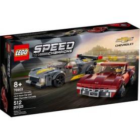 LEGO SPEED CHAMPIONS 76903 CHEVROLET CORVETTE C8.R E 1968 CHEVROLET CORVETTE ETA 8