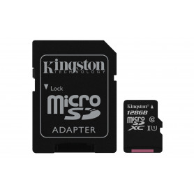 KINGSTON MICROSDXC128GB SELECT UHS-I ADATT. CL10 80mb/s LET 10mb/s SCR  SDCS/128GB